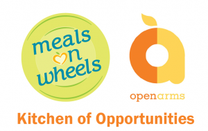 Meals on Wheels and Open Arms Logo